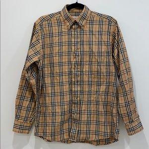 Vintage Burberry Nova check button down shirt